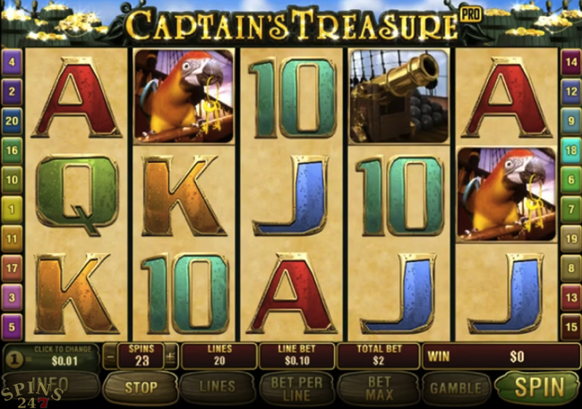 Captains Treasure Pro screenshot