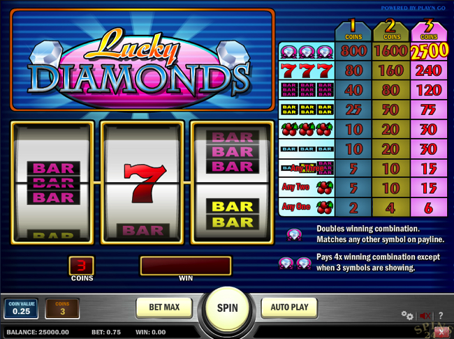 Spilleautomater lucky diamonds