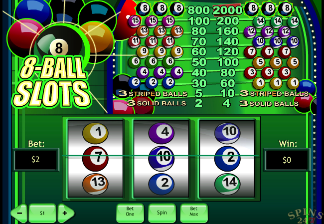 8 ball slots screenshot