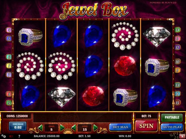 Spilleautomat jewel box